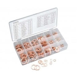 COPPER WASHER SET, METRIC 150 PIECES