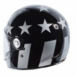 CASCO INTEGRAL TORC T-1 CAPTAIN VEGAS NEGRO BRILLO