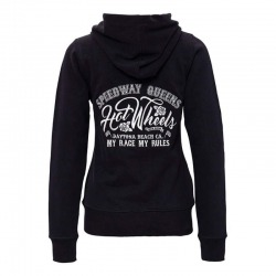 KING KEROSIN HOT WHEELS BLACK WOMEN'S SWEATSHIRT