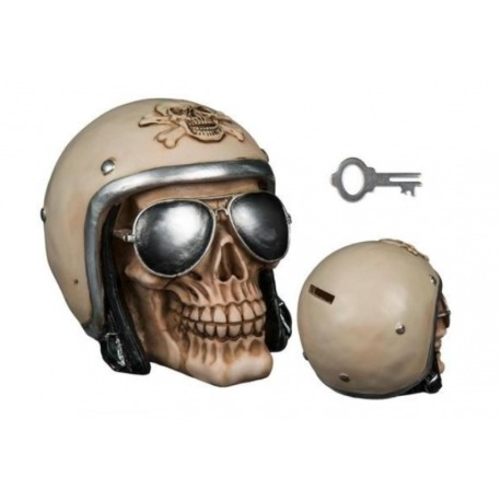 MONEY BOX SKULL HELMET