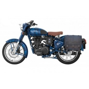 SQUADRON BLUE ROYAL ENFIELD CLASSIC 500 TRAJANO LEATHER PADS