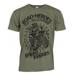 ROAD HEROES OLIVE GREEN T-SHIRT