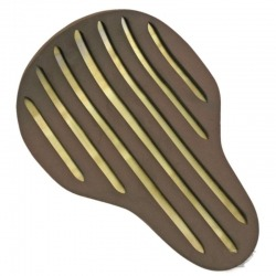 SEAT ONLY ARROW BASE BRASS AND BROWN