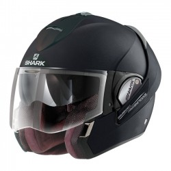 CASCO INTEGRAL SHARK EVOLINE 3 BLACK METAL MAT (OUTLET)