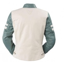 WOMEN JACKET REVIT MERIDIAN WHITE AND GREEN