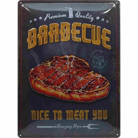 BARBECUE GARAGE PLATE