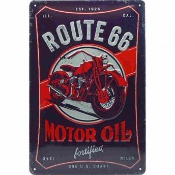 PLACA GARAJE ROUTE 66 MOTOR OIL