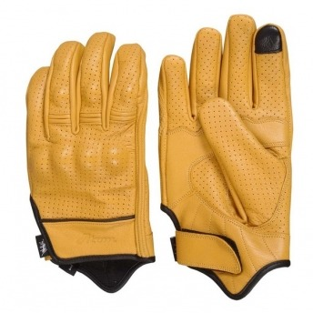 ATOM RIDERS LEATHER GLOVES FANCY FINGERS - MUSTARD