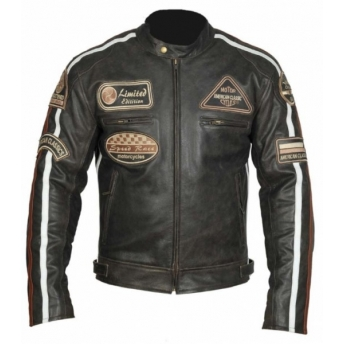 VINTAGE BROWN CLASSIC LEATHER JACKET