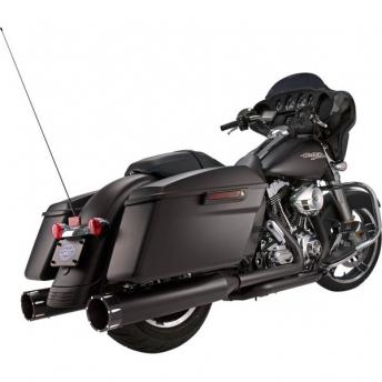 MUFFLERS S&S MK45 BLACK MACHINED HARLEY DAVIDSON TOURING 99-16