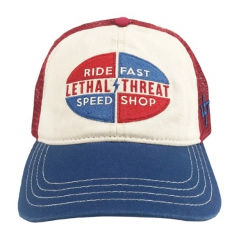 LETHAL THREAD SPEED SHOP CAP BLUE/RED/WHITE
