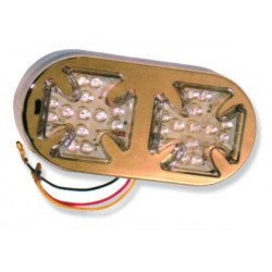 LED TAILLIGHT MALTESE CROSS