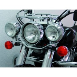 SOPORTE FAROS AUXILIARES HONDA VT750C4 & BLACK SPIRIT