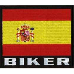 PARCHE BIKER ESPAÑA 12,5 X 12,5CM