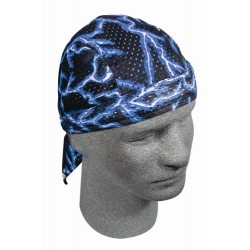 LIGHTNING BLUE BANDANA MICROPERFORATED