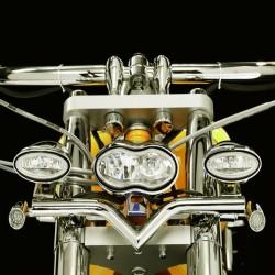 "SOPORTE FARO AUXILIAR EN ""V"" HONDA VT750DC SPIRIT '07-UP"