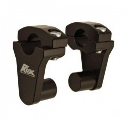 Handlebar risers height 5cm BLACK FOR 22MM or 28MM
